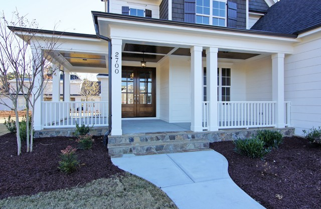 The Chamborde Porch built by Homes by Dickerson in Stonehenge Park, Raleigh NC traditional-porch