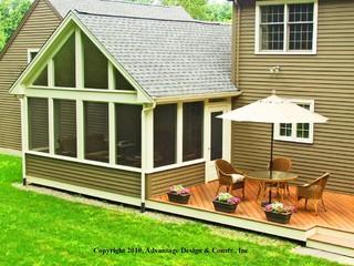 Three Seasons Of Happiness Encompass This Deck And Three Season Room Addition Traditional