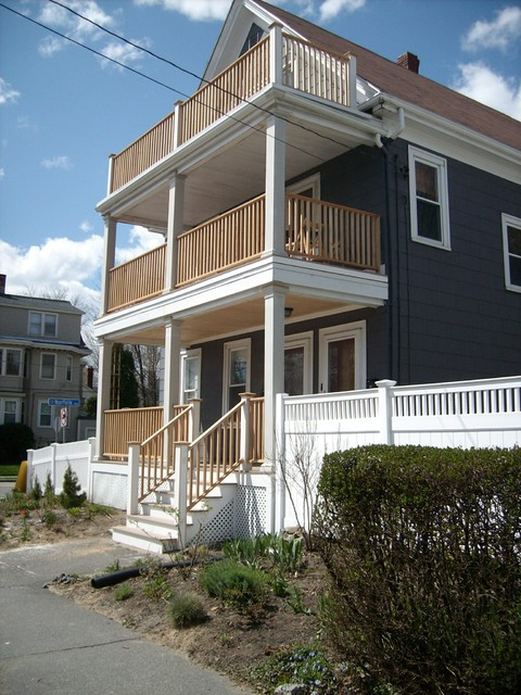 three story deck project traditional porch boston For3 Story Deck