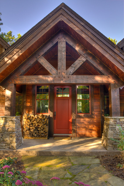 Thunder lake entry for Rustic porch columns