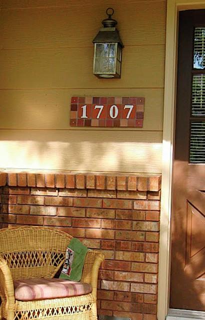 Tile Address Plaques traditional-porch