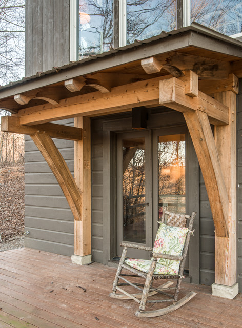 Timber frame porches rustic porch nashville by for Timber frame porch addition