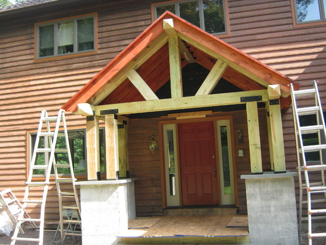 Timber Frame Porch Eclectic