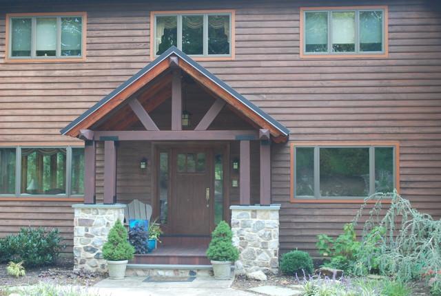 Timber Frame Porch Eclectic Porch Philadelphia