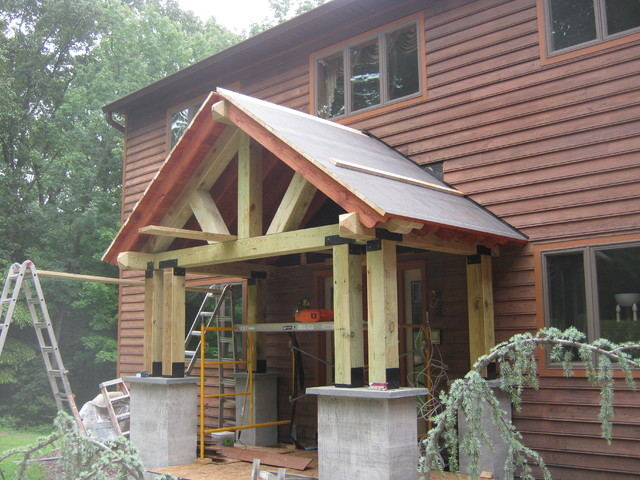 Timber frame porch eclectic porch philadelphia by for Timber frame porch designs