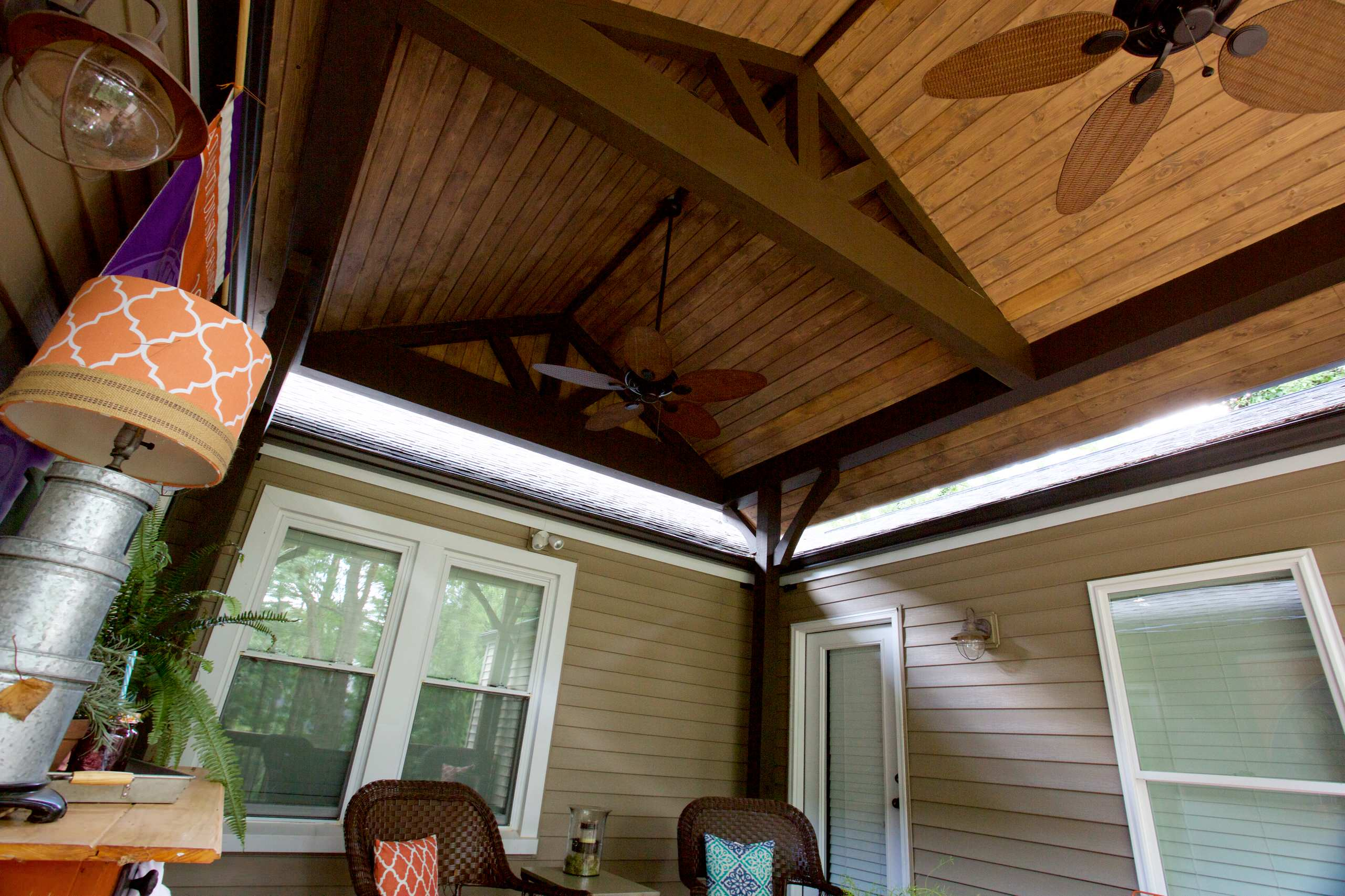 Timber Frame Porch Roof
