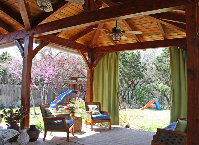 Timber frame porch traditional porch by texas timber for Timber frame porch addition