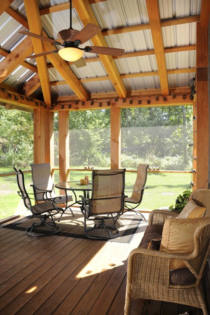 Screen Porch with Metal Roof
