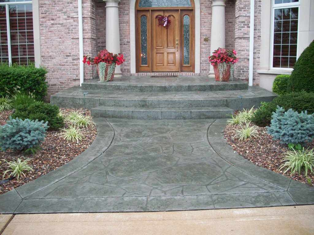 Town and Country, Missouri stamped concrete front entrance