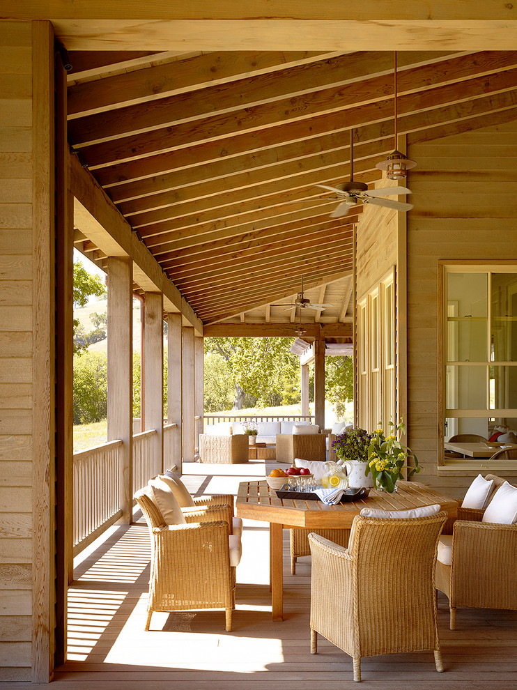 Elegant porch photo in San Francisco with decking