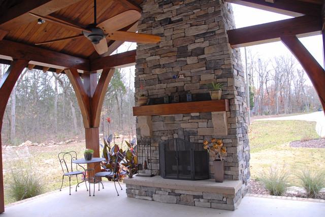 Timber Framing traditional-porch