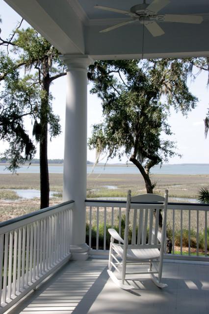 Backyard Porch Hilton Head : Marshfront Home  Hilton Head, South Carolina  Traditional  Porch