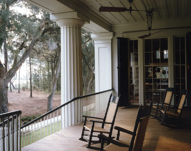 Plantation Style Southern Estate Traditional Porch