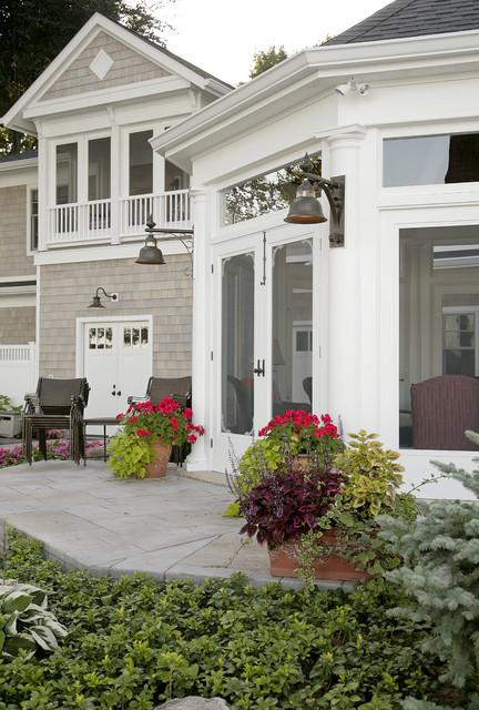 Octagonal Screen Porch traditional-porch