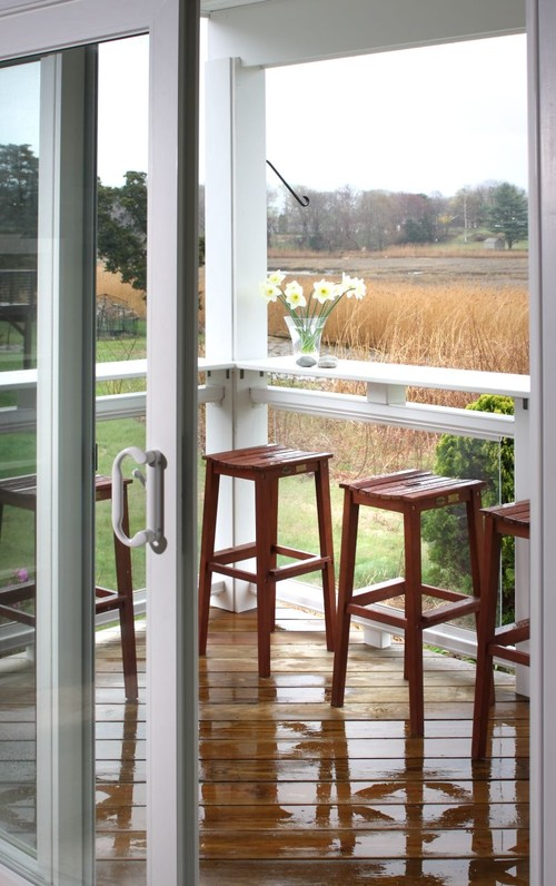Bar Stool Home Decorating Ideas - bar stools on covered porch