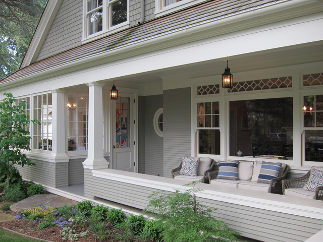 Traditional Shingle Style Traditional Porch San