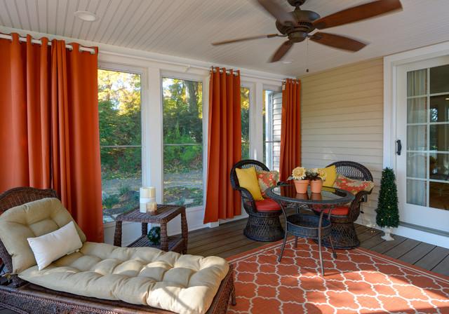 Traditionl Three Season Porch Addition Trex Decking