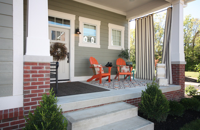 Trailside Picturesque Porch Craftsman Porch Indianapolis By Everything Home