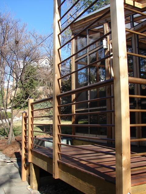translucent porch modern-porch