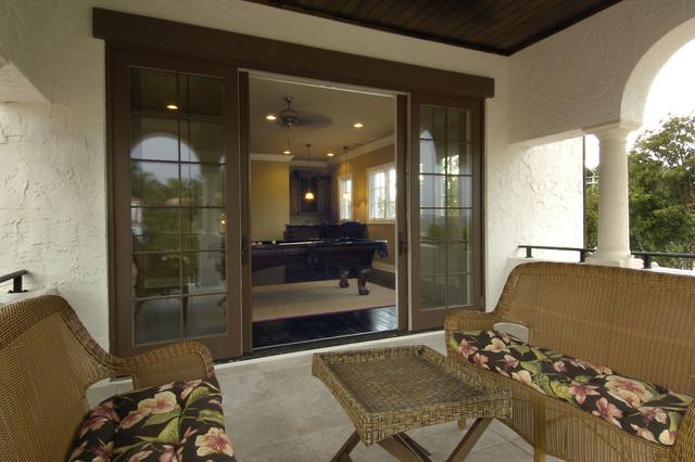 Upper Balcony mediterranean-porch