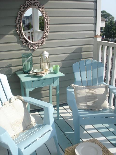 Upper deck traditional-porch