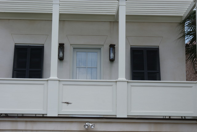 Upstairs balcony door electric lanterns traditional for Balcony upstairs