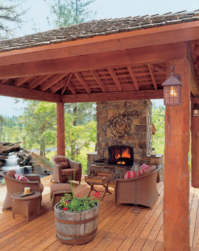 User-Friendly Cabin - Cabin Life Magazine traditional porch