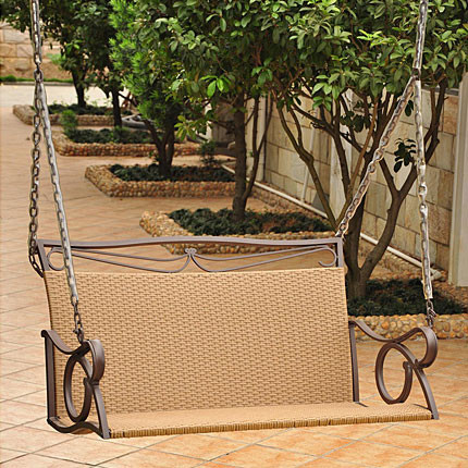 Valencia Entryway Porch Swing mediterranean porch