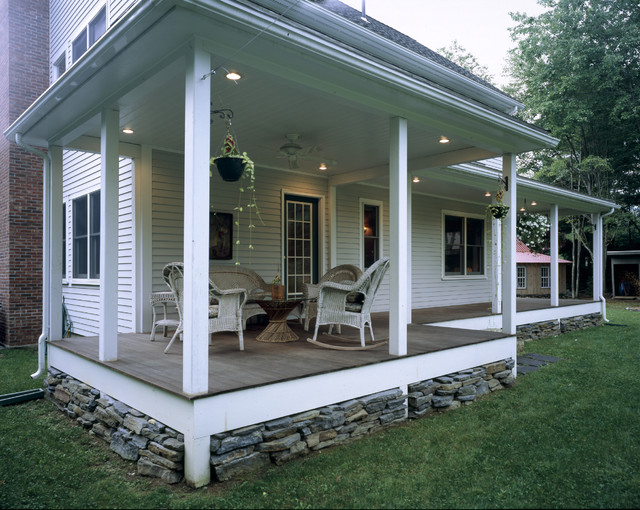 Valley Farmhouse Traditional Porch Boston By