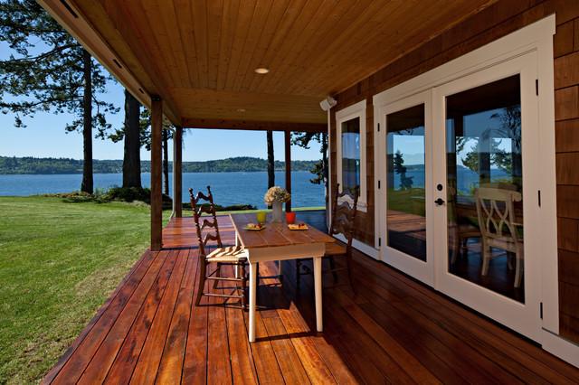 Vashon Island Waterfront Home Traditional Porch