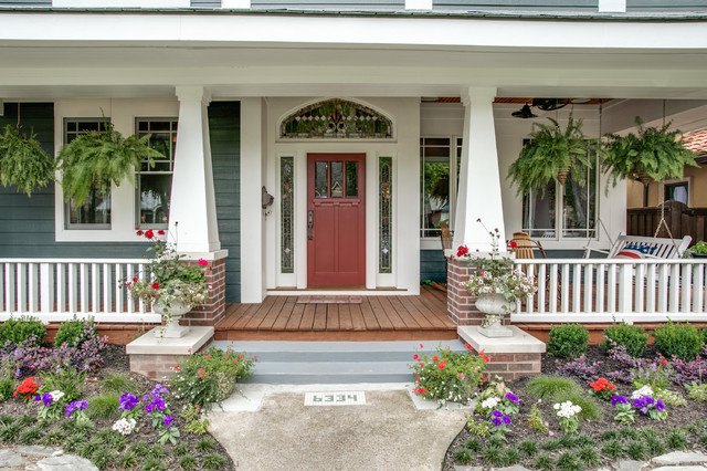 Velasco Craftsman Porch Dallas By Bella Vista Company