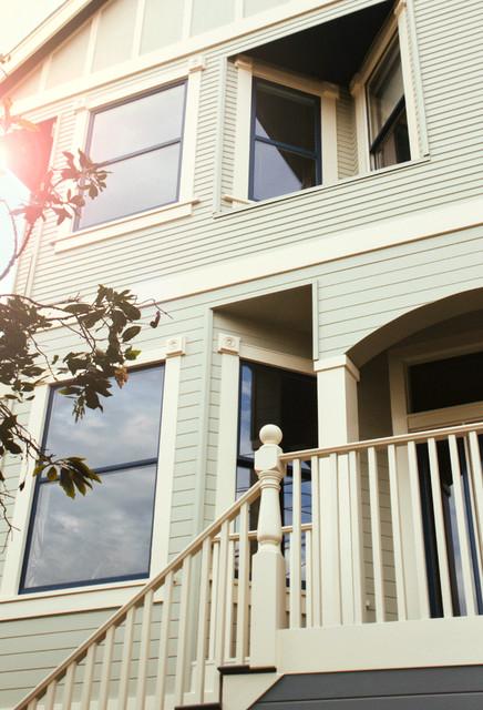 Victorian Facade Restoration traditional-porch