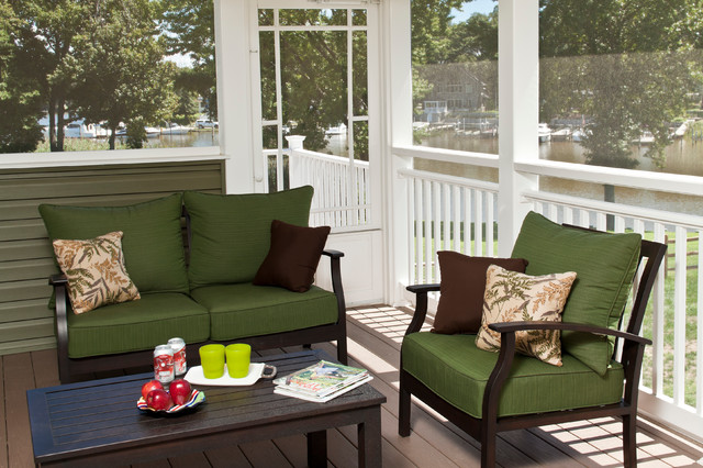 Waterfront Living traditional-porch