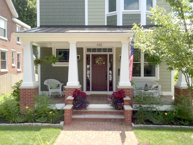West chester craftsman craftsman porch philadelphia for Craftsman style screened porch