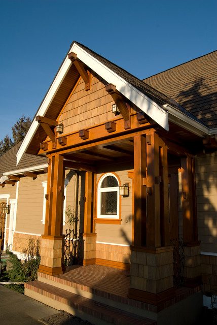 Front Porch Timber Frame Craftsman Porch Seattle