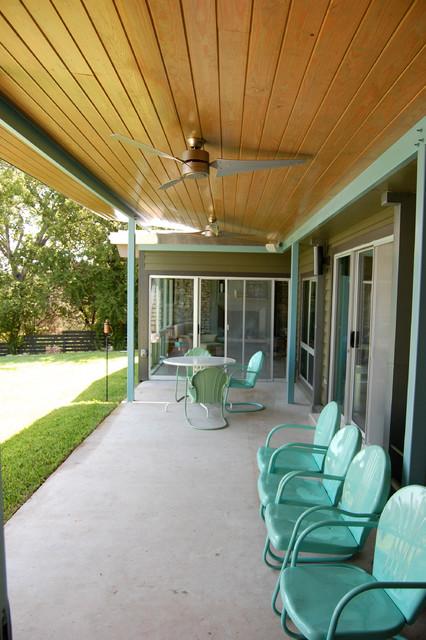 Wild Basin porch midcentury-porch