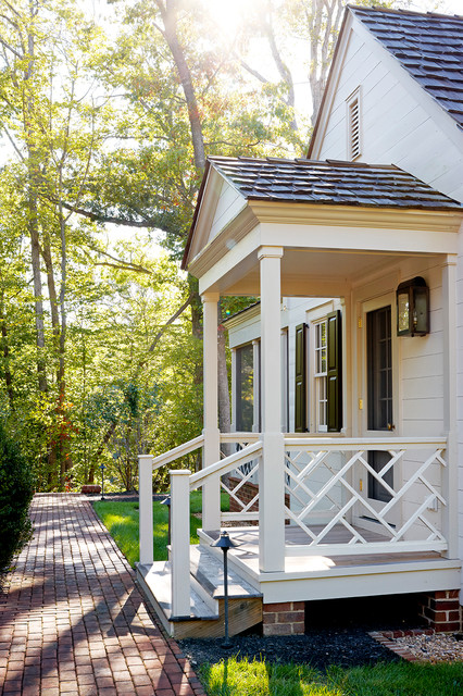 Williamsburg traditional porch richmond by 3north for Side porch designs