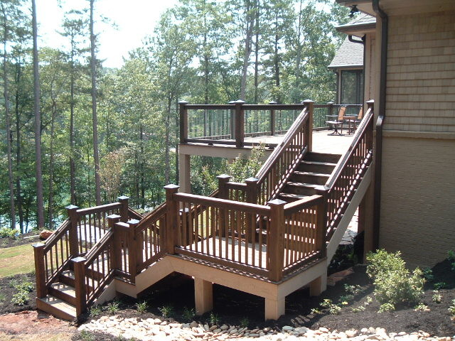 Winding Deck Stairs With Landings