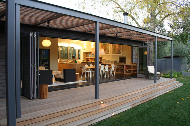 modern porch by Lorin Hill, Architect