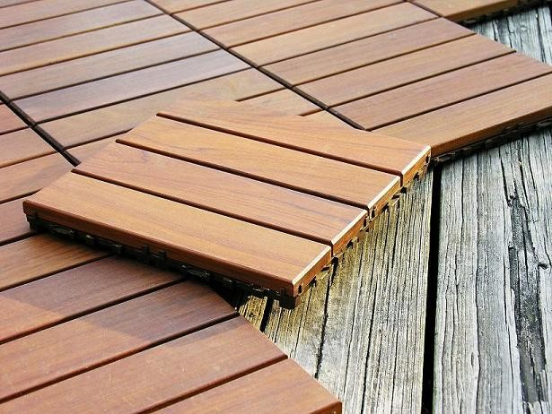 Wood Deck Tiles By Design For Less Modern Porch Other Metro By