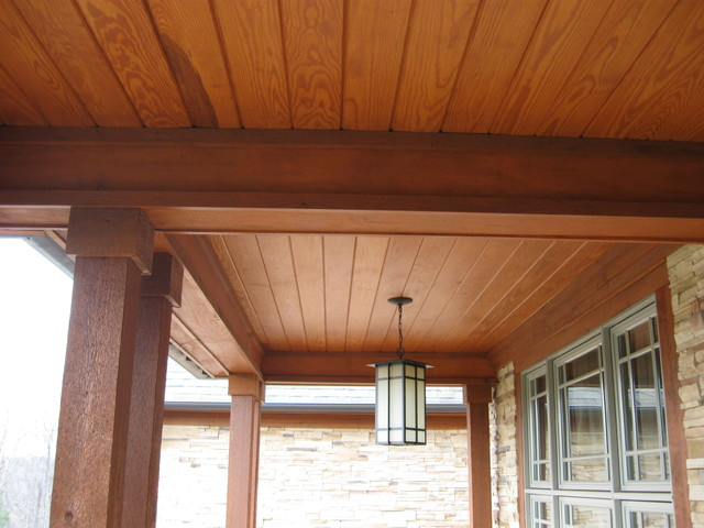 Lovely Wood Porch Ceiling Rustic Porch