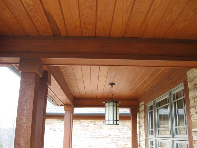 Wood Porch Ceiling Rustic Porch