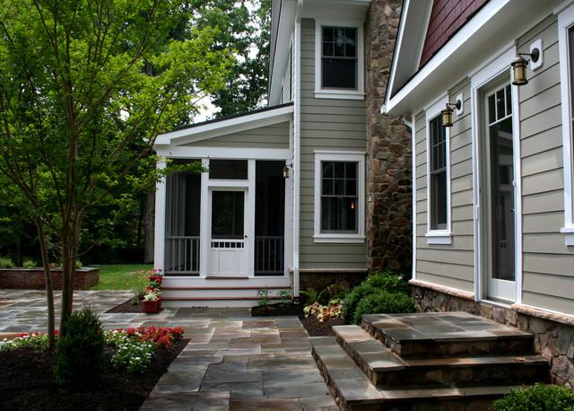 Woodland Garden farmhouse-porch