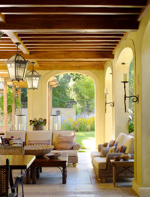 Mediterranean Porch by Gordon + Greineder
