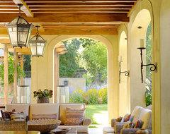 Woodside Residence mediterranean-porch