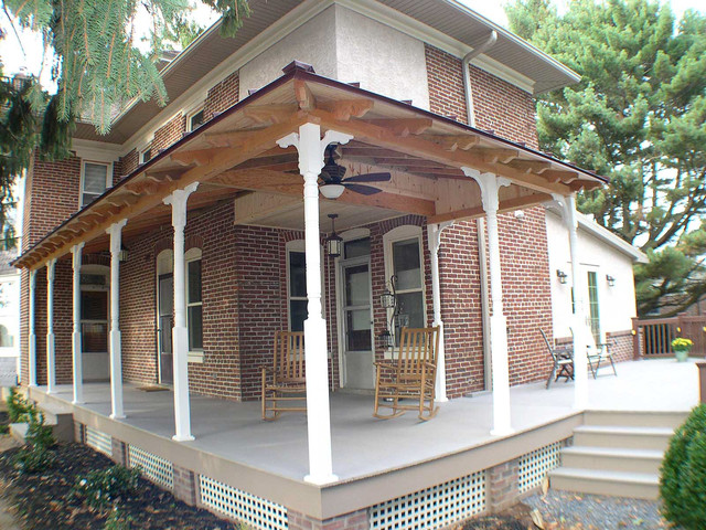 delightful wrap around porch designs #7: Wrap around porch in Oley, PA traditional-porch