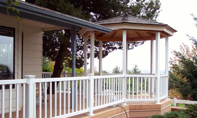 Wraparound Porch With Gazebo Transitional Veranda