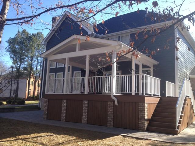 Wyndam Complete Exterior Renovation contemporary-porch