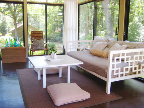 Young house love-  Sunroom contemporary porch