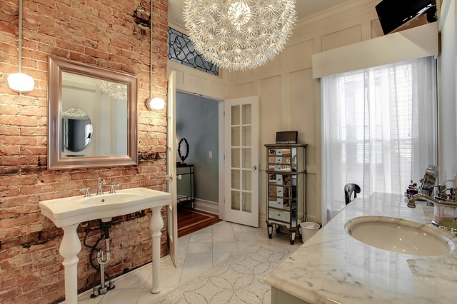 1920 39 s house in belmont area traditional powder room for Bathroom ideas 1920 s